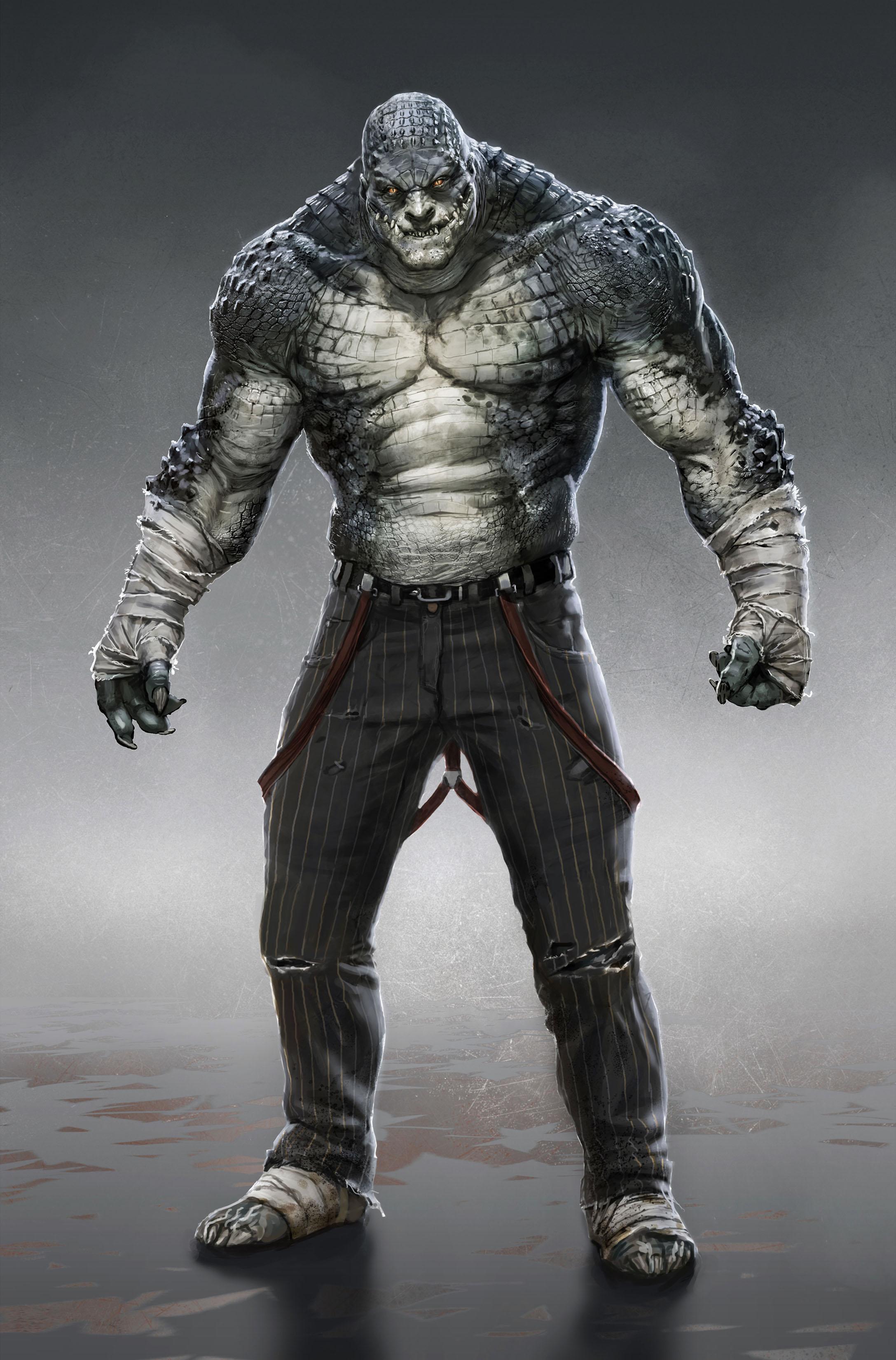 """""""Batman: Arkham Origins"""": concept arty Killer Croc ..."""