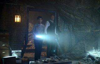 Bruce i Alfred w jaskini