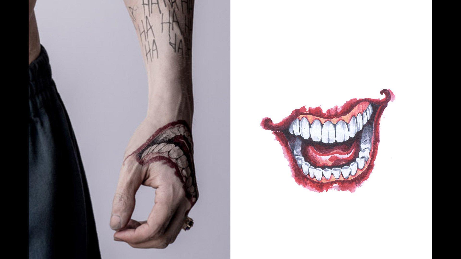 Suicide Squad Tatuaże Jokera I Harley Portretowe Zdjęcia