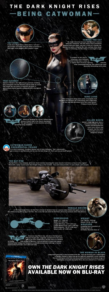 "Infografika: Catwoman w ""The Dark Knight Rises"""