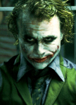 "Heath Ledger jako Joker w ""The Dark Knight"""