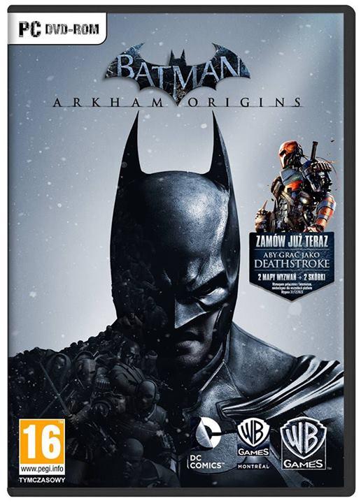 """Polska okładka """"Batman: Arkham Origins"""""""