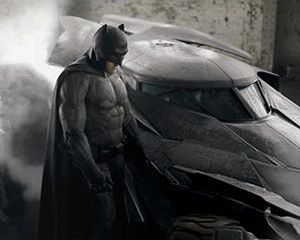 "Batman i Batmobil z ""Batman v Superman: Dawn of Justice"""