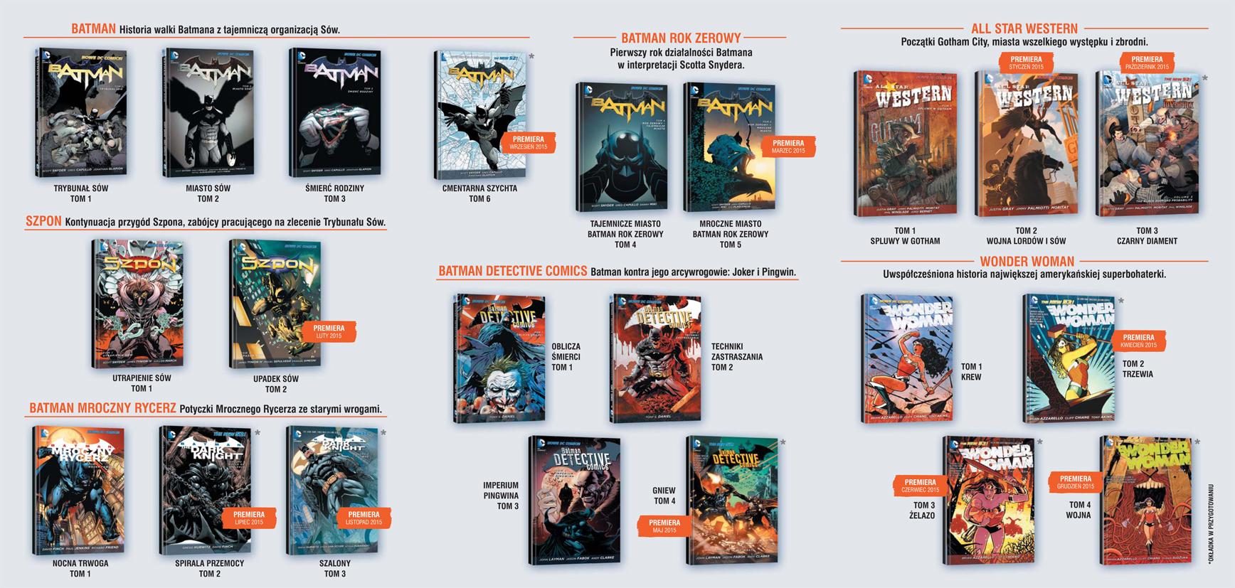 Nowe DC Comics oraz DC Deluxe - rozpiska na cały rok 2015!
