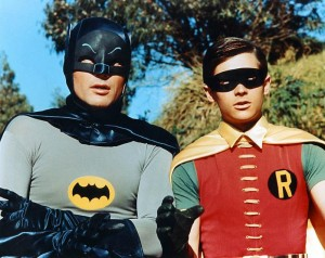 Adam West i Burt Ward jako Batman i Robin