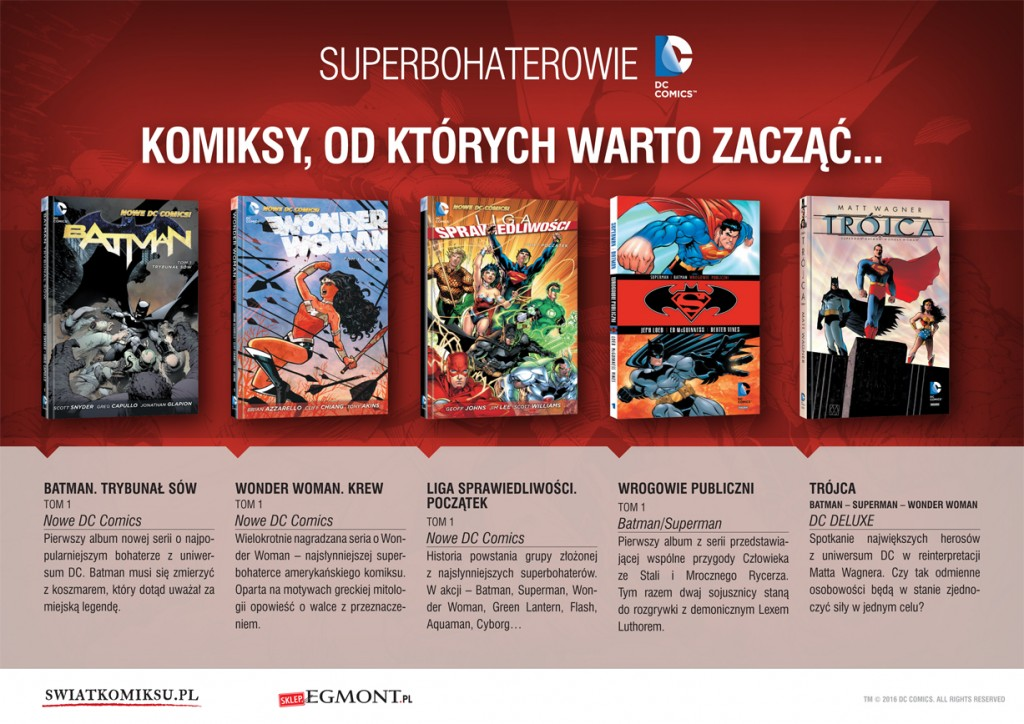 Komiksy Egmontu - bohaterowie DC