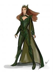 "Projekt postaci Mery z ""Justice League"""