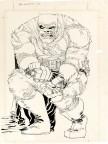 "Ilustracja Franka Millera do ""The Dark Knight Returns #2"""