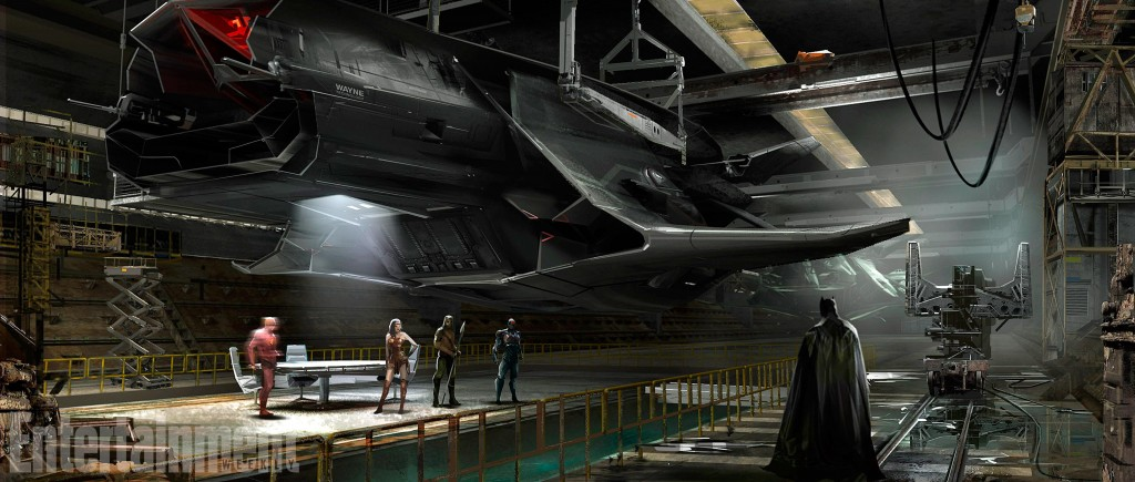 Justice League Flying Fox Concept Art