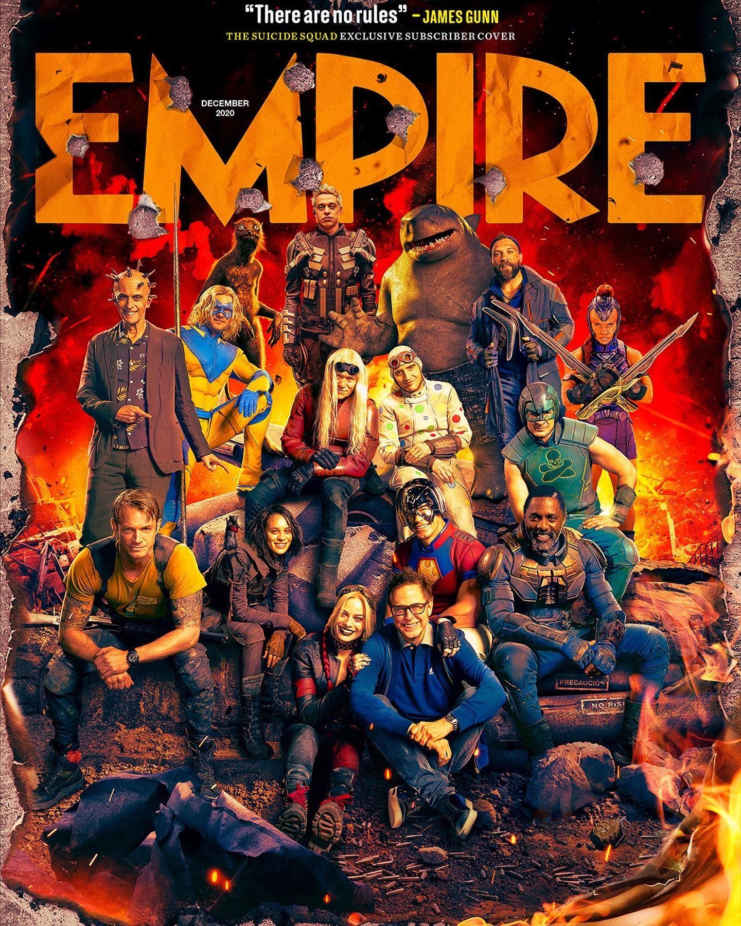 "Bohaterowie ""The Suicide Squad"" na okładkach Empire | BatCave"